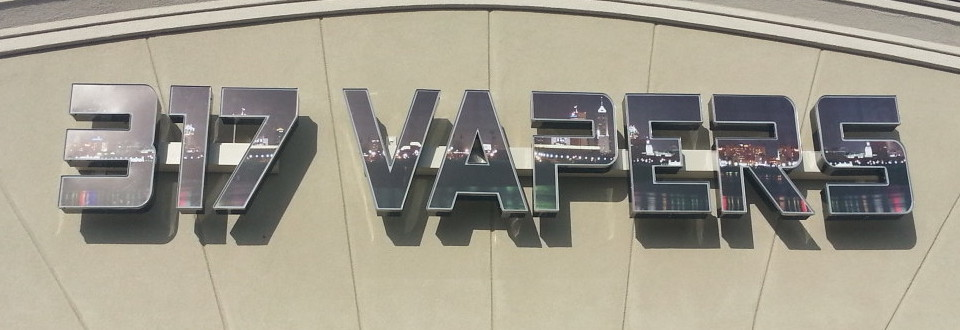 317 Vapers LED Sign